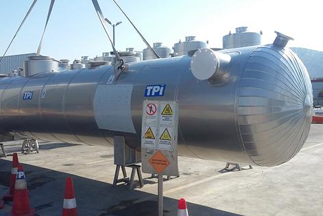 Estanques de resistencia T-33 en terminal ALLOY S347 (UNS S34700)