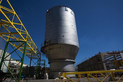 Estanques, torres y pulper en acero inoxidable para proyecto M-450 Planta Maule