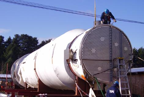 Fabricación, montaje y puesta en marcha de evaporadores y torres de secado