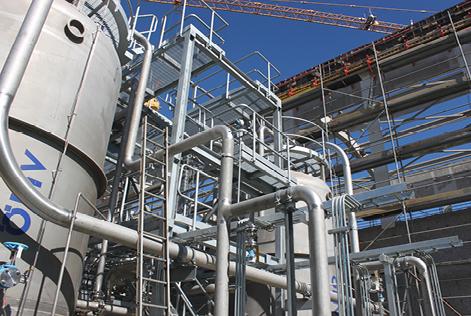 Spools y estructuras para planta de tratamiento de aguas