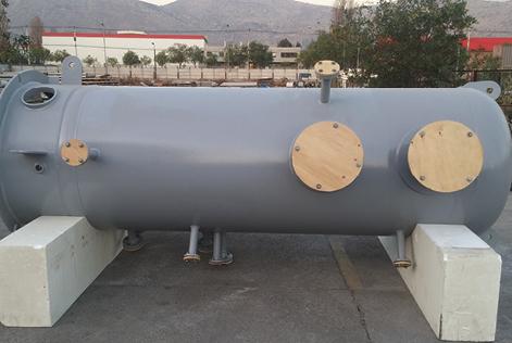 Scrubber vertical multiciclón de acero carbono